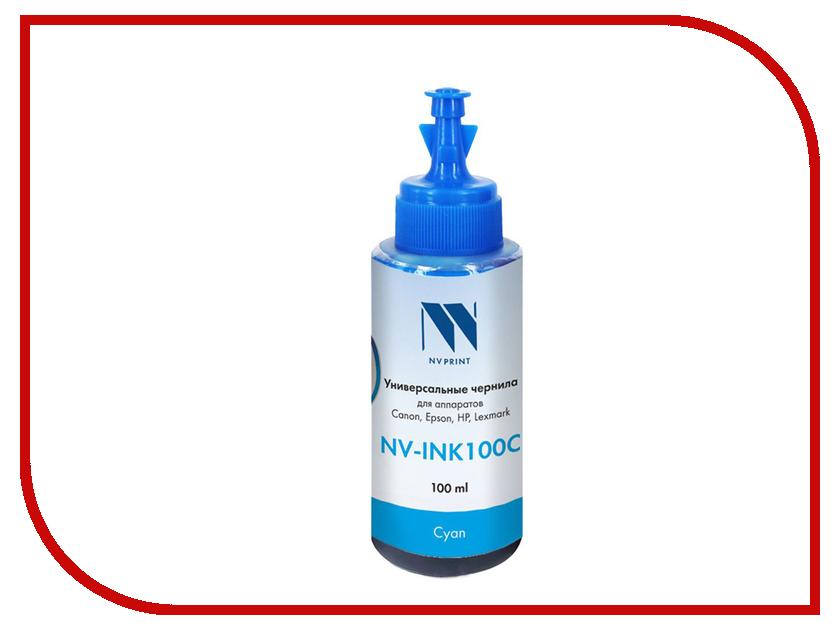 Чернила NV Print NV-INK100 универсальные на водной основе Cyan 100ml для Сanon / Epson / НР / Lexmark boho print dip hem chiffon top