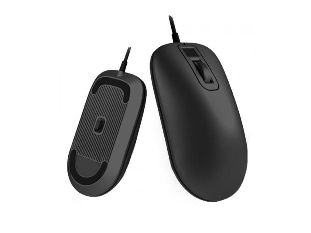 Мышь Xiaomi Jesis Smart Fingerprint Mouse Black free shipping biometric fingerprint time clock tcp ip fingerprint access control system xm28 with rfid and mf reader
