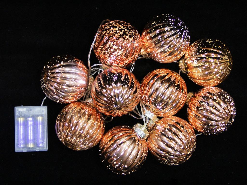 Гирлянда SnowHouse Шишки 10 LED Copper CSLD10-BO