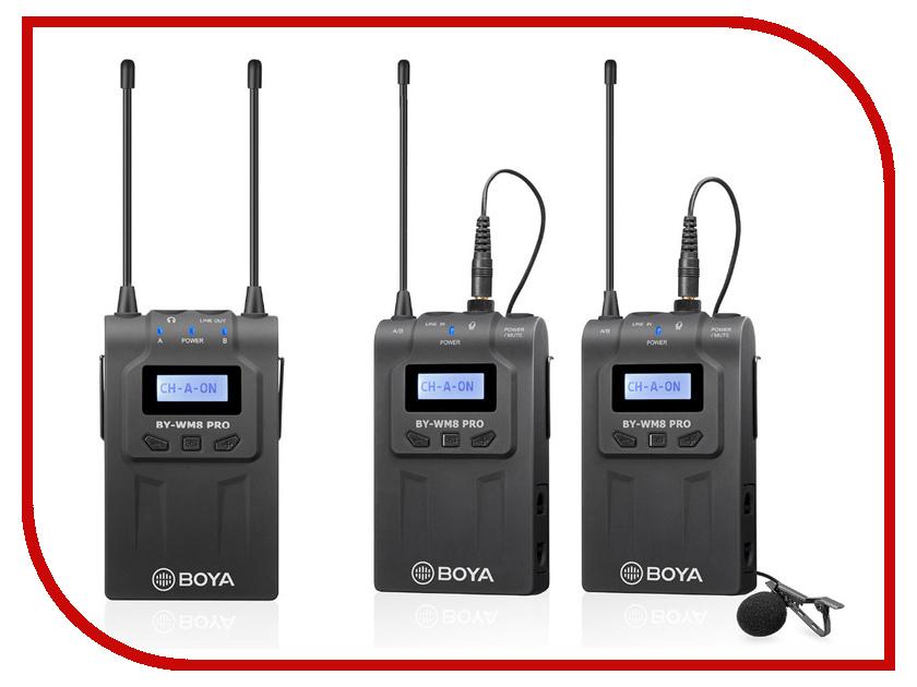 Микрофон Boya BY-WM8 Pro-K2 k2 репшнур вспомогательный k2 5 мм х 5 м