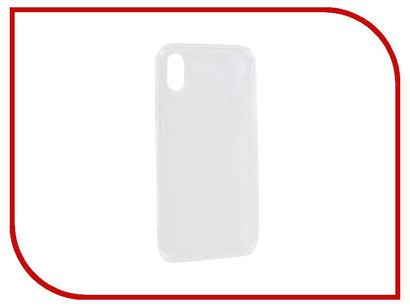 Аксессуар Чехол для APPLE iPhone X Innovation Transparent 13116 аксессуар чехол innovation jeans white для apple iphone x 10786