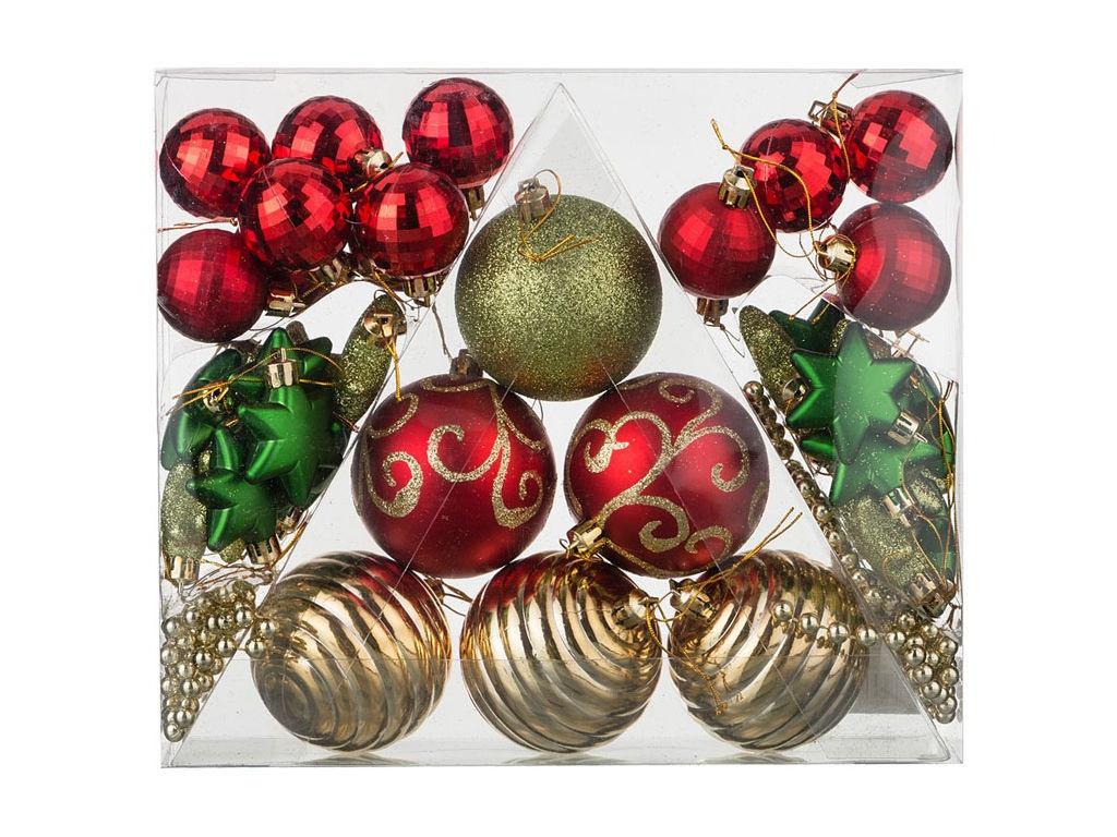 Набор шаров Lefard Сказочное Рождество 42шт 858-033