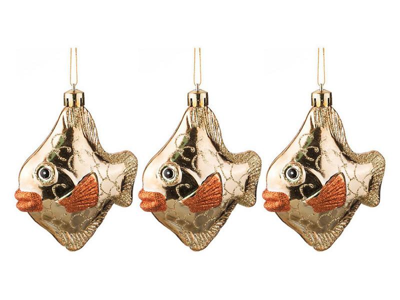 Украшение Lefard Набор золотых рыбок h-9cm 3шт 858-050