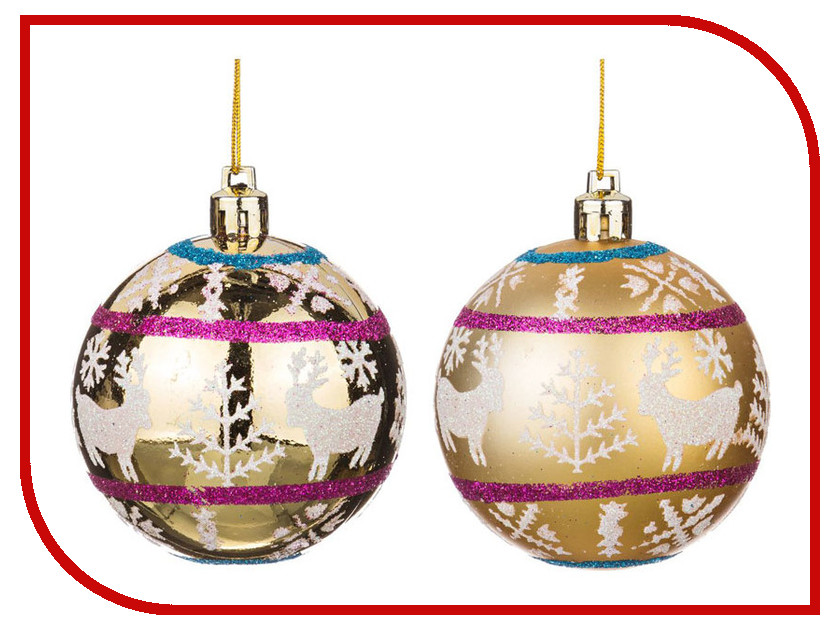 Украшение Lefard Набор Шар d-7cm 2шт 863-011 шар световой globo weihnachtsengel 23238 0 68 м