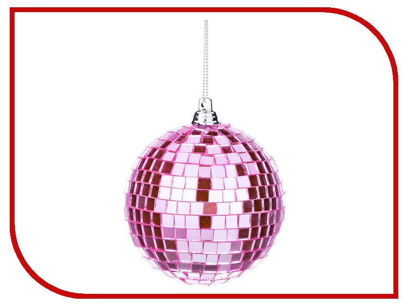 Украшение Lefard Шар диско d-8cm Pink 866-135 mag2000 шар диско 20см 1шт в пвх боксе