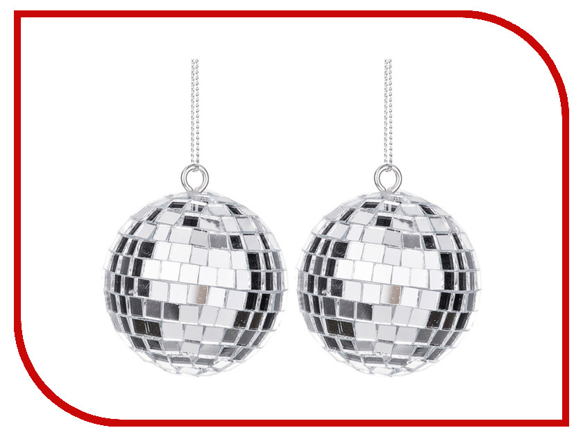 Украшение Lefard Набор Шар диско d-5cm 2шт Silver 866-136