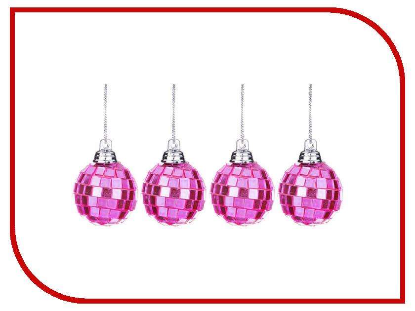 Украшение Lefard Набор Шар диско d-3.5cm 4шт Pink 866-137 mag2000 шар диско 20см 1шт в пвх боксе
