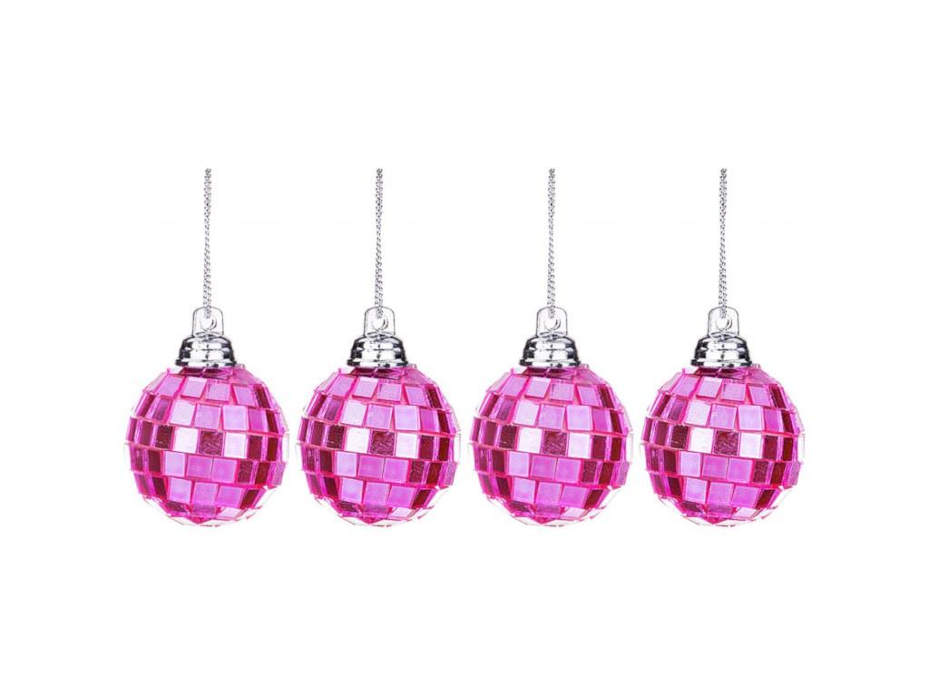 Украшение Lefard Набор Шар диско d-3.5cm 4шт Pink 866-137