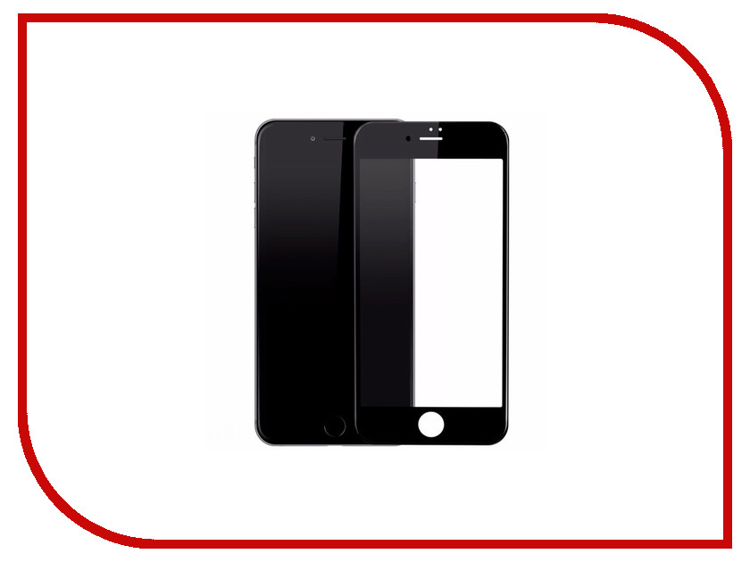Аксессуар Защитное стекло для APPLE iPhone 7 Plus/8 Plus Krutoff Full Glue Black 02697 аксессуар защитное стекло для apple iphone 7 plus 8 plus svekla full screen white zs svap7plus fswh