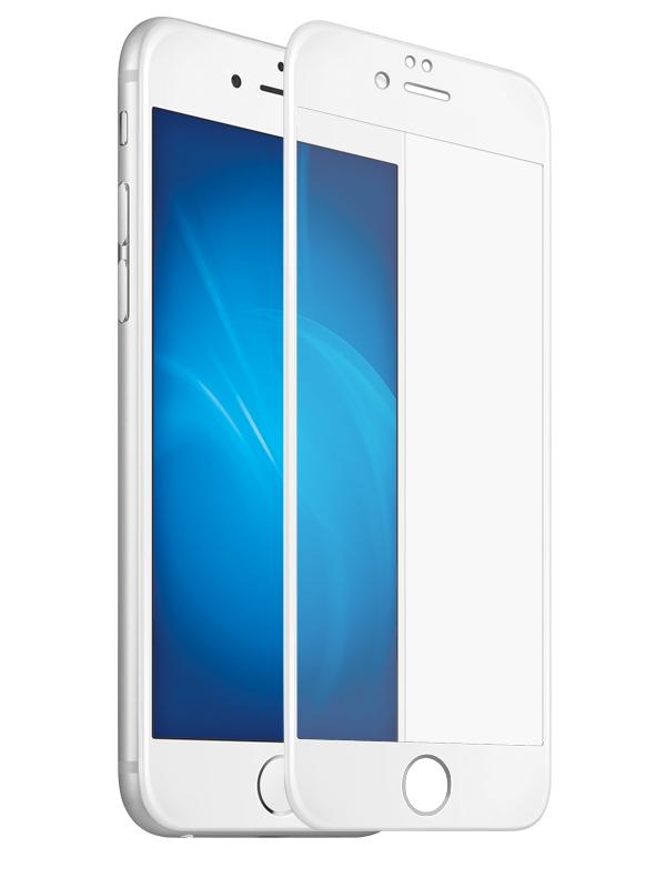Аксессуар Защитное стекло для APPLE iPhone 6/6S Krutoff Full Glue White 02690