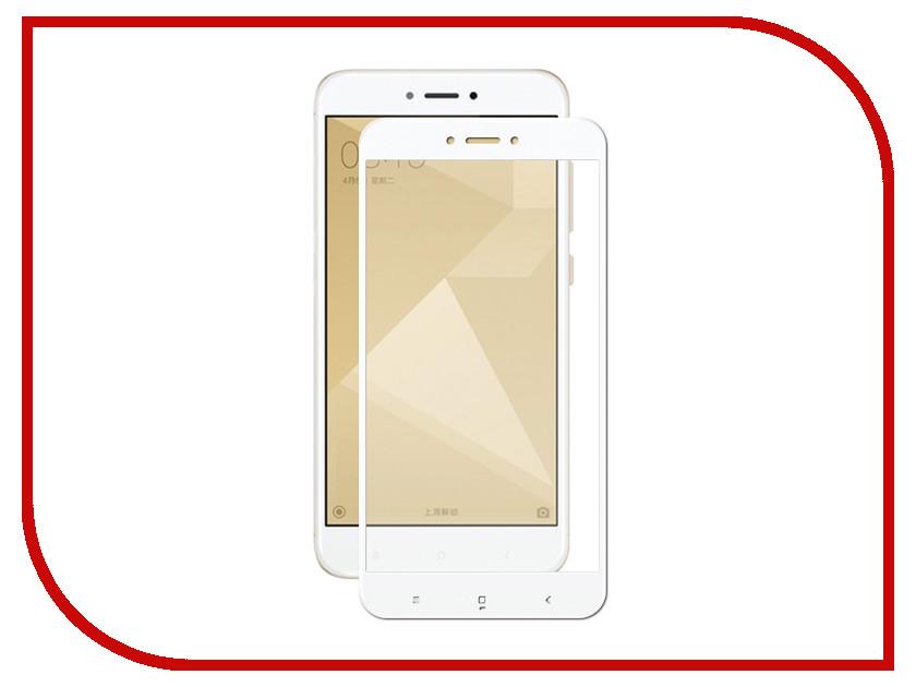 Аксессуар Защитное стекло для Xiaomi Redmi 4X Krutoff Full Glue White 02849 аксессуар стекло защитное для xiaomi redmi note 4x krutoff full screen white 02528