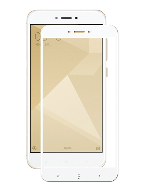 Аксессуар Защитное стекло Krutoff для Xiaomi Redmi 4X Full Glue White 02849 аксессуар стекло защитное для xiaomi redmi note 4x krutoff full screen white 02528