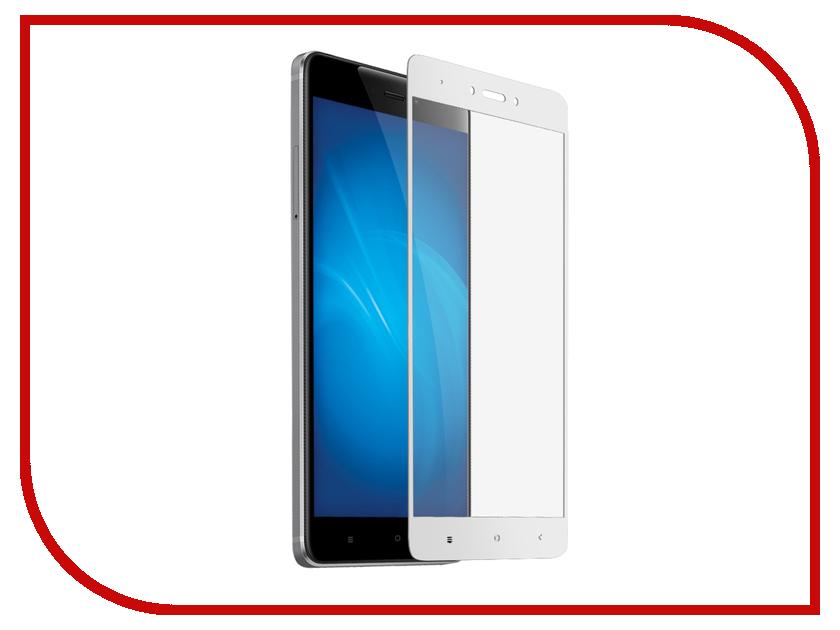 Аксессуар Защитное стекло для Xiaomi Redmi Note 4X Krutoff Full Glue White 02858 аксессуар защитное стекло для xiaomi redmi 4x krutoff full glue black 02850