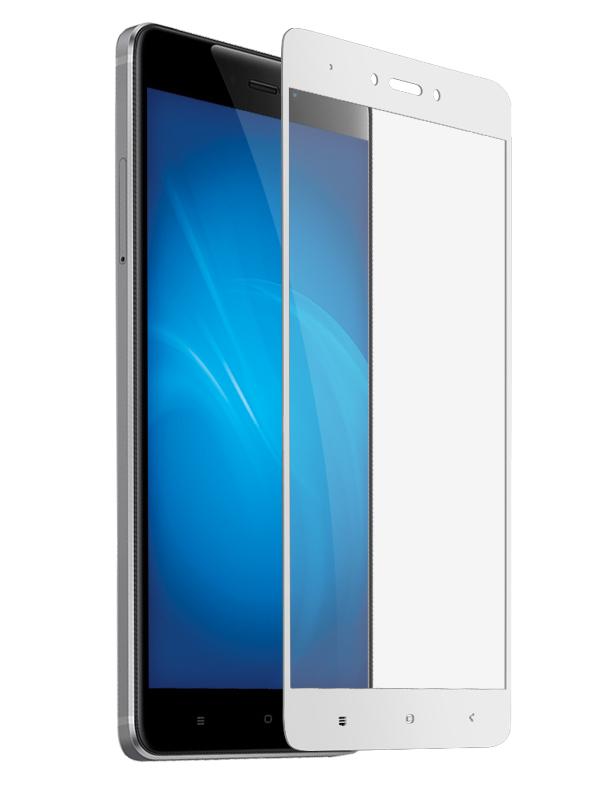 Аксессуар Защитное стекло Krutoff для Xiaomi Redmi Note 4X Full Glue White 02858