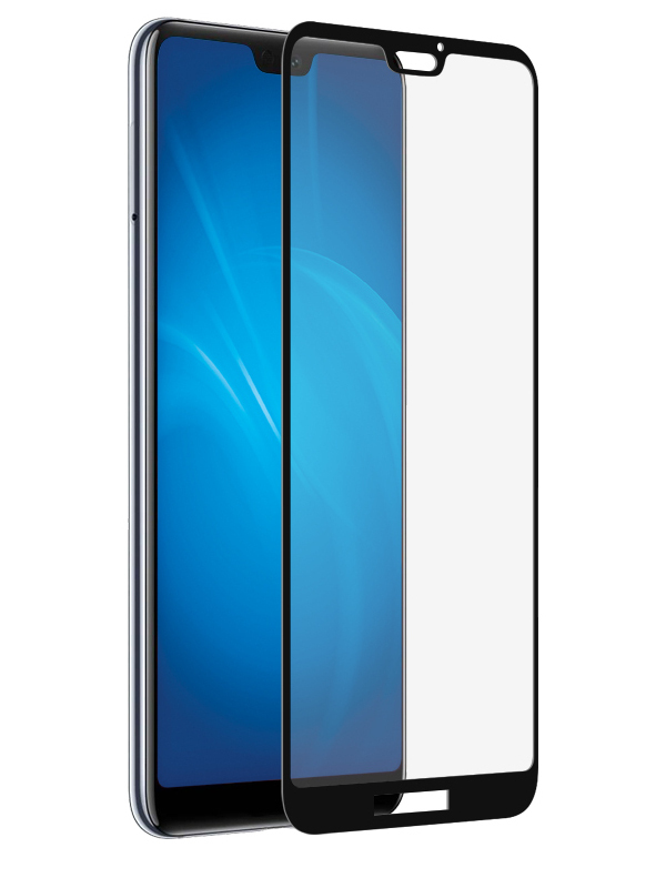 Аксессуар Защитное стекло Krutoff для Huawei P20 Lite Full Screen Black 02797