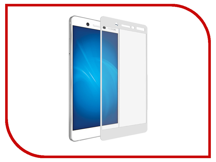 Аксессуар Защитное стекло для Nokia 7 Krutoff Full Screen White 02595 tested screen for nokia lumia 720 lcd n720 display with touch screen digitizer with frame full assembly 1 piece free shipping