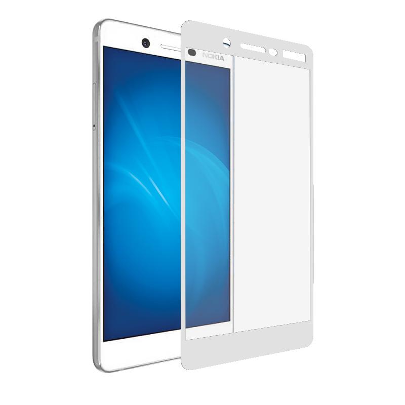 Аксессуар Защитное стекло Krutoff для Nokia 7 Full Screen White 02595