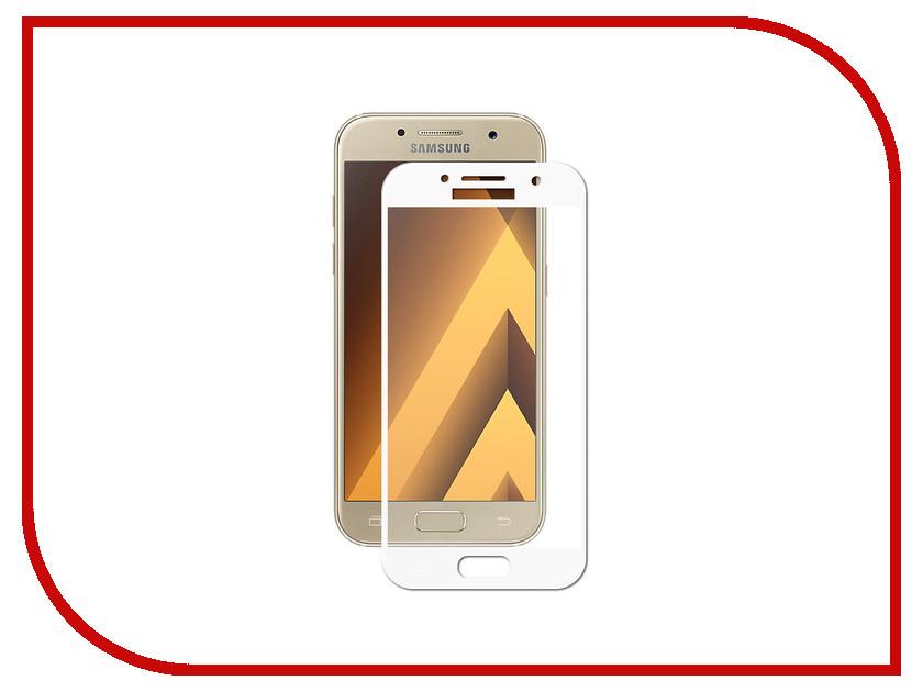Аксессуар Защитное стекло Krutoff Full Screen для Samsung Galaxy A3 2017 SM-A320F White 02543