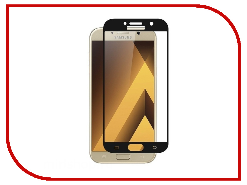 Аксессуар Защитное стекло для Samsung Galaxy A3 2017 SM-A320F Krutoff Full Screen Black 02544 аксессуар защитное стекло для samsung galaxy a3 2017 sm a320f krutoff group 3d gold 20235
