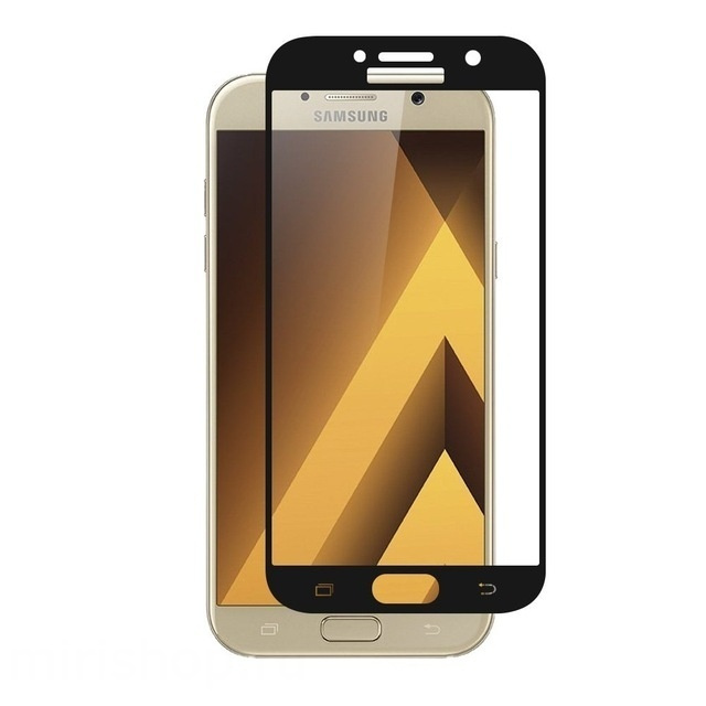 Аксессуар Защитное стекло Krutoff Full Screen для Samsung Galaxy A3 2017 SM-A320F Black 02544 аксессуар защитное стекло samsung galaxy a3 2017 a320f gecko 0 26mm zs26 gsga3 2017