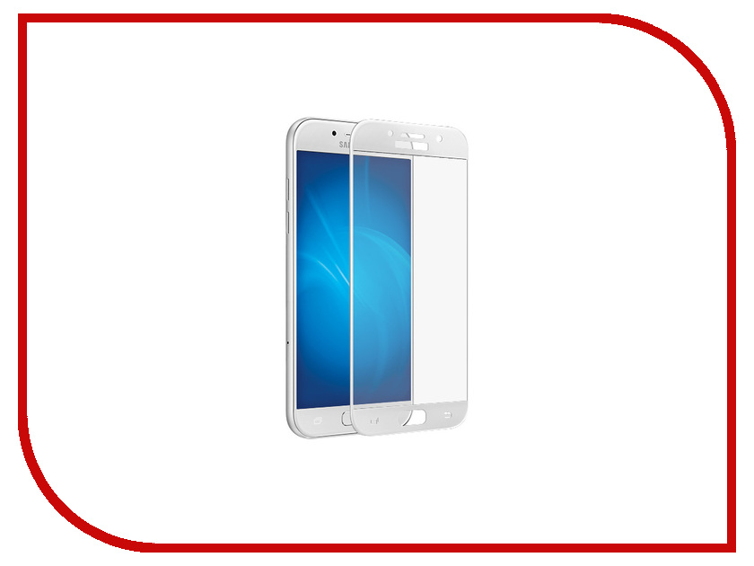 Аксессуар Защитное стекло для Samsung Galaxy A5 2017 SM-A520F Krutoff Full Screen White 02545 for lenovo zuk z2 lcd screen display with touch screen digitizer panel glass assembly black white replacement parts free shipping
