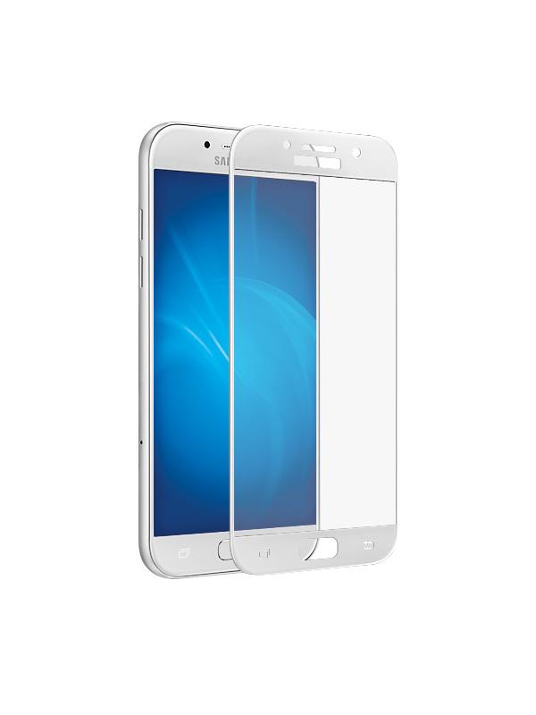 Аксессуар Защитное стекло Krutoff Full Screen для Samsung Galaxy A5 2017 SM-A520F White 02545 аксессуар защитное стекло samsung galaxy a5 2017 a520f svekla 3d white frame zs svsga520f 3dwh