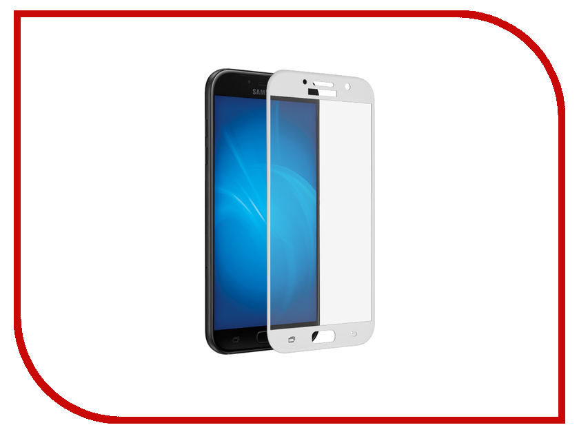 Аксессуар Защитное стекло для Samsung Galaxy A7 2017 SM-A720F Krutoff Full Screen White 02547 white lcd display touch screen digitizer assembly frame for lenovo a7 30 a3300 replacement parts