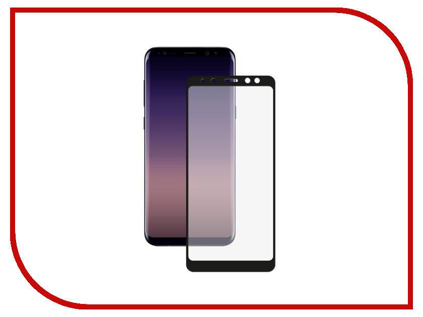 Аксессуар Защитное стекло для Samsung Galaxy A8 SM-A530F Krutoff Full Screen Black 02560 смартфон samsung galaxy a8 2018 32gb sm a530f черный