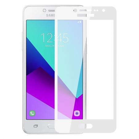 Аксессуар Защитное стекло Krutoff Full Screen для Samsung Galaxy J2 Prime SM-G532F White 02555 смартфон samsung galaxy j2 prime 8gb sm g532f черный титан