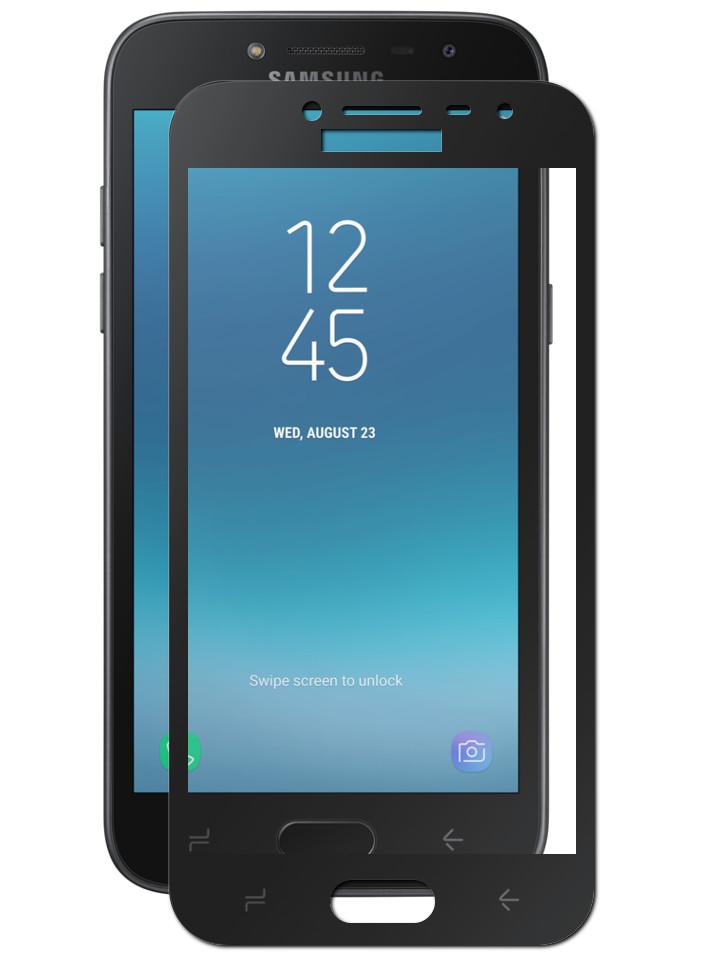 Защитное стекло Krutoff для Samsung Galaxy J2 Pro 2018 Full Screen Black 02591 аксессуар защитное стекло pero для samsung galaxy j2 2018 2 5d black