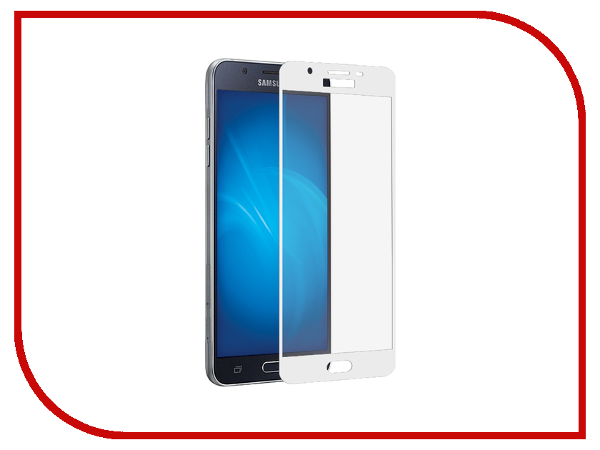 Аксессуар Защитное стекло для Samsung Galaxy J3 2017 SM-J330 Krutoff Full Screen White 02549 аксессуар чехол для samsung sm j330 galaxy j3 2017 activ the ultimate experience leather red 75635