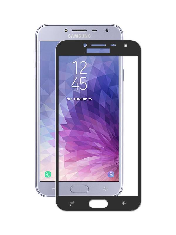 Аксессуар Защитное стекло Krutoff Full Screen для Samsung Galaxy J4 2018 SM-J400 Black 02633 аксессуар защитное стекло для samsung galaxy j5 2017 sm j530 krutoff full screen white 02551