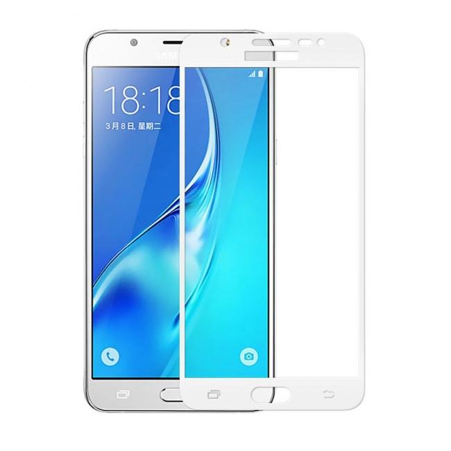 Аксессуар Защитное стекло Krutoff Full Screen для Samsung Galaxy J5 Prime SM-G570F White 02557