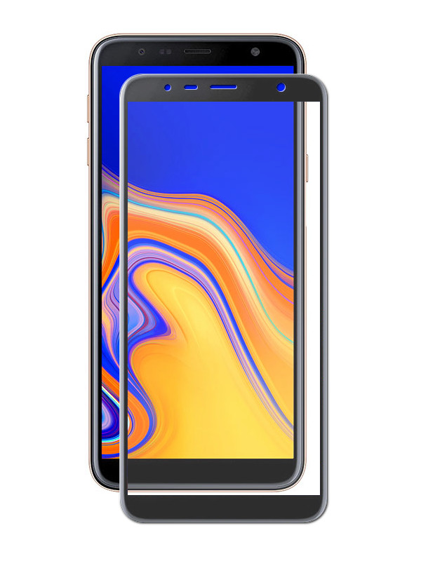 Аксессуар Защитное стекло Krutoff Full Screen для Samsung Galaxy J6 Plus SM-J610 Black 02783 аксессуар защитное стекло для samsung galaxy j5 2017 sm j530 krutoff full screen white 02551