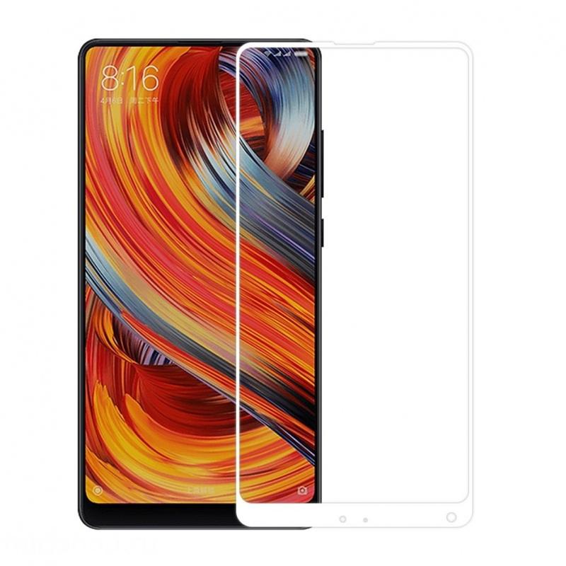 Защитное стекло Krutoff для Xiaomi Mi Mix 2 Full Screen White 02759