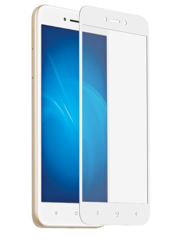 Аксессуар Защитное стекло Krutoff для Xiaomi Redmi 5A Full Screen White 02580 аксессуар защитное стекло neypo для xiaomi redmi note 5a 5a prime full glue glass black frame nfgl4258