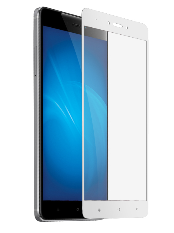 Защитное стекло Krutoff для Xiaomi Redmi Note 4X Full Screen White 02567