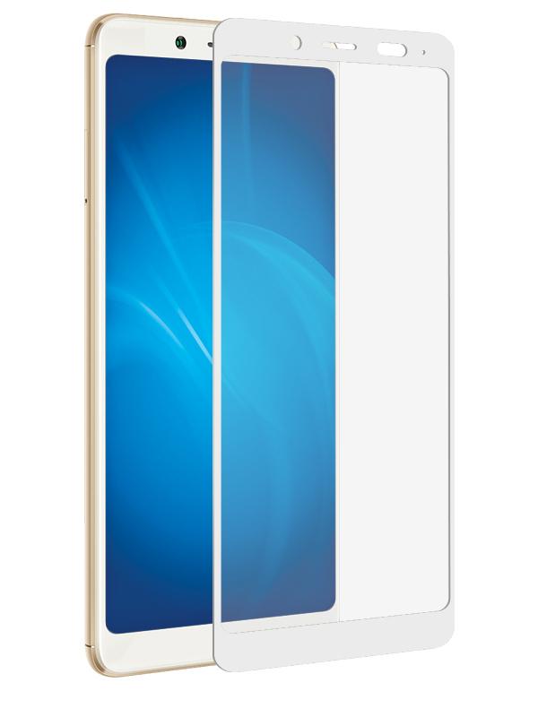 Аксессуар Защитное стекло Krutoff для Xiaomi Redmi Note 5 Pro Full Screen White 02654 защитное стекло skinbox full screen для xiaomi redmi note 5 pro с рамкой черный