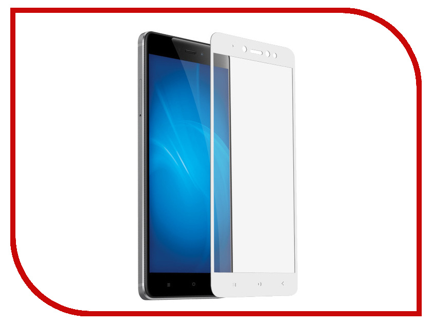 Аксессуар Защитное стекло для Xiaomi Redmi Note 5A / 5A Prime Krutoff Full Screen White 02570 for lenovo zuk z2 lcd screen display with touch screen digitizer panel glass assembly black white replacement parts free shipping