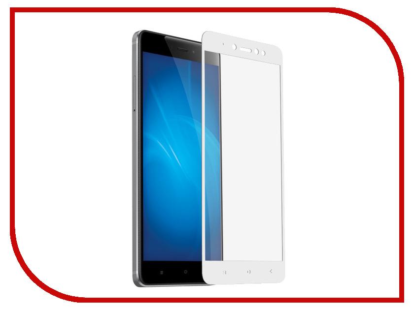 Аксессуар Защитное стекло для Xiaomi Redmi Note 5A / 5A Prime Krutoff Full Screen White 02570 аксессуар защитное стекло для xiaomi redmi note 5a gecko 2d 0 26mm full screen black zs26 gxnote 5x 2d bl