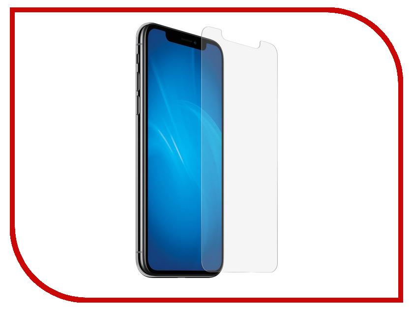 Аксессуар Защитное стекло для APPLE iPhone X / XS Krutoff Group 0.26mm 20347 аксессуар накладка силиконовая krutoff для apple iphone x red karbon 11916