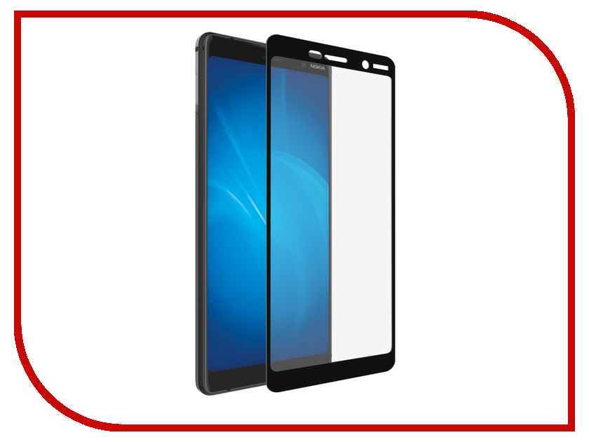 Аксессуар Защитное стекло для Nokia 7 Plus Krutoff Full Screen Black 02620 tested screen for nokia lumia 720 lcd n720 display with touch screen digitizer with frame full assembly 1 piece free shipping