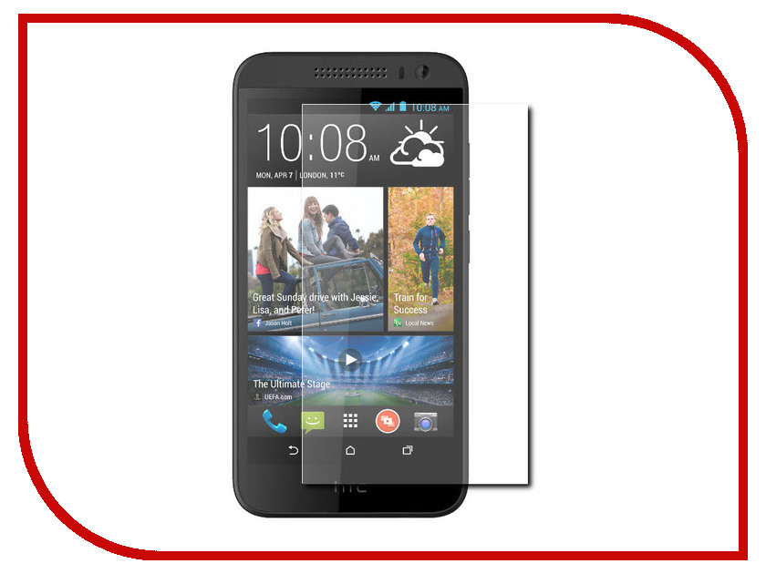 Аксессуар Защитное стекло для HTC Desire 616 Krutoff Group 0.26mm 21987 аксессуар защитное стекло для htc desire 830 ds onext 41084