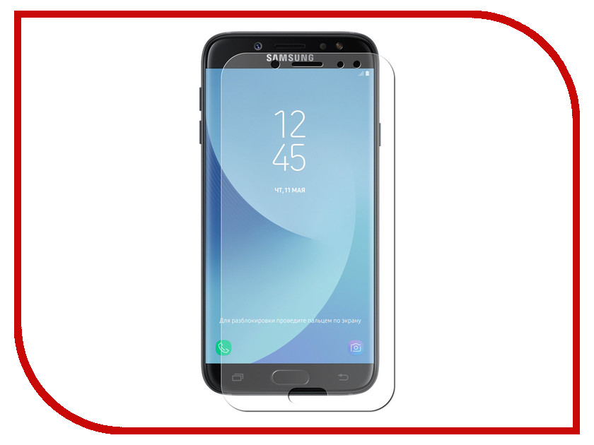 Аксессуар Защитное стекло для Samsung Galaxy J7 2017 SM-J730 Krutoff Group 0.26mm 22149 аксессуар защитное стекло для samsung galaxy a7 2017 sm a720f krutoff group 3d full clear 20244