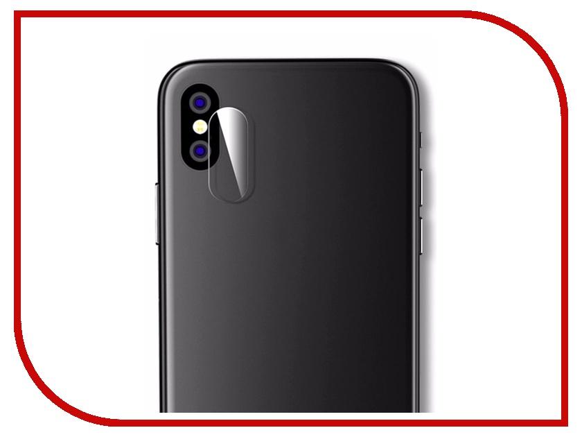 Аксессуар Защитное стекло для APPLE iPhone X Krutoff Back 02811 аксессуар накладка силиконовая krutoff для apple iphone x red karbon 11916