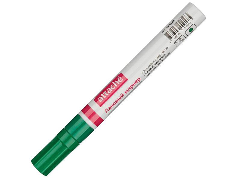 Маркер Attache 4mm Green 865474 цена