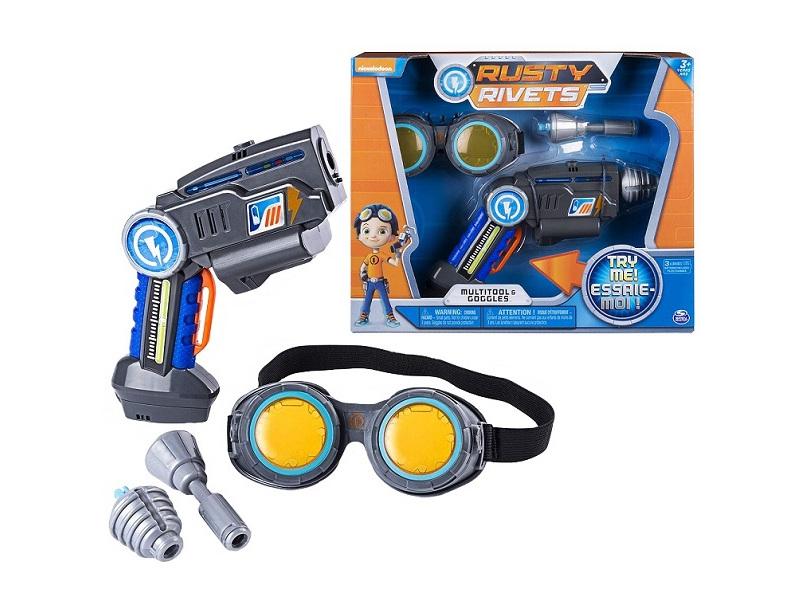 Игровой набор Spin Master Rusty Rivets Супер инструмент и очки Расти 28109