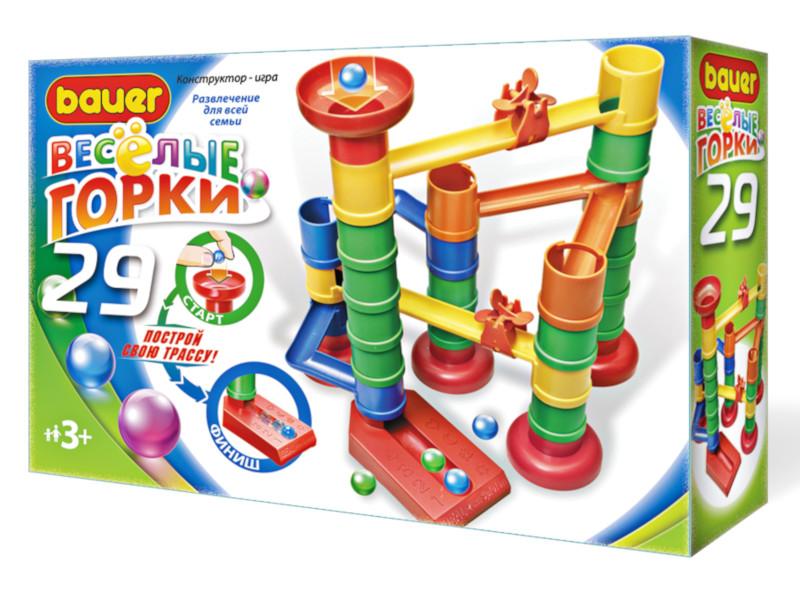 Конструктор Bauer Весёлые горки 29 дет. 582 bauer bauer конструктор веселые горки 145 элементов