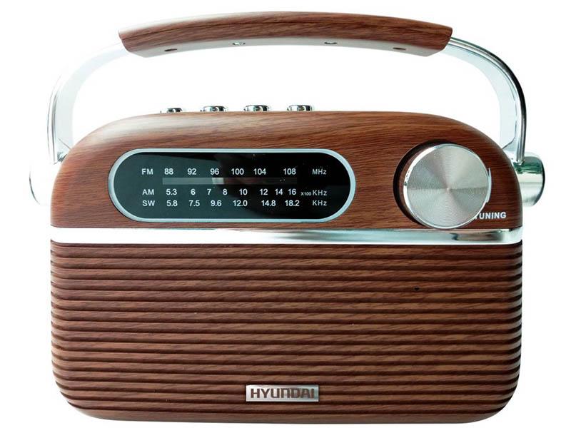 Радиоприемник Hyundai H-PSR200 Brown цена и фото