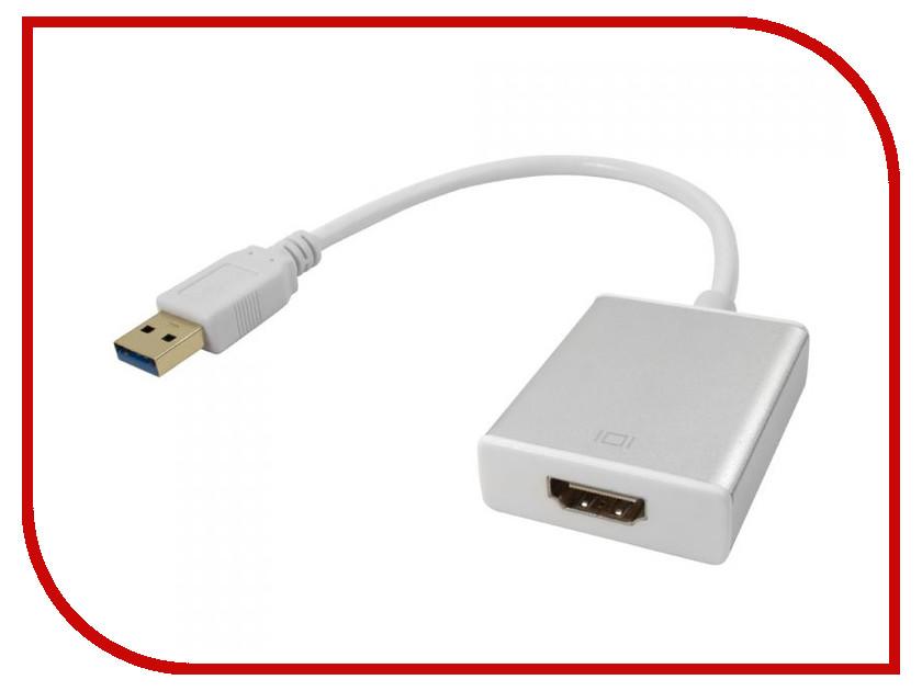 Цифровой конвертер Greenconnect Greenline USB 3.0 AM HDMI 19F White GCR-U32HD2